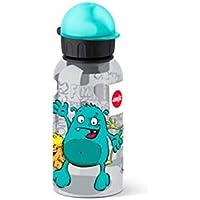 Emsa 518123 - Botella hermética con diseño de Animales antiderrame con Piezas fáciles de Limpiar, Ligeras y fáciles de manipular para niños, tritanio, 7 x 7 x 18 cm