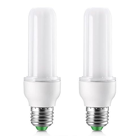 Elrigs Lot de 2 Ampoules LED Forme de Barre, 9W (quivalent 75W), Culot E27, Blanc Froid (6000K),