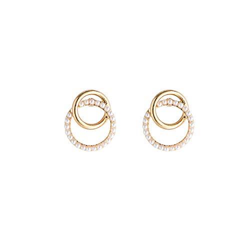 Elegante Wulst Damen Ohrringe, Einfach Damen Gold Kreis Ohrschmuck -