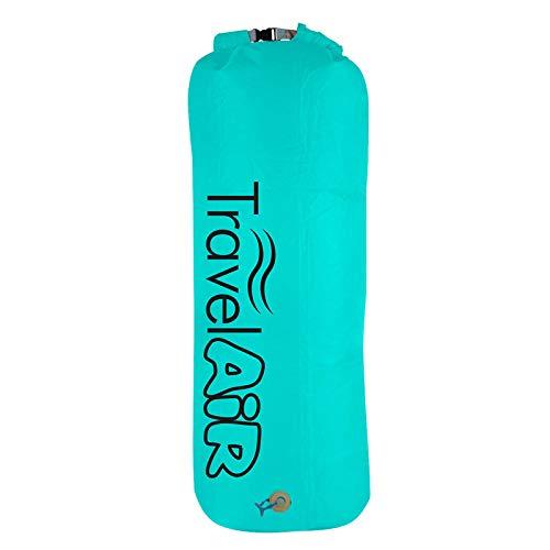Travel Air Luftpumpe Pumpe ohne Strom aufblasbarer Pumpsack Packsack Beutel Luftkissen Kopfkissen Luft Sack Outdoor Camping Strand Zubehör blau Wasserdicht für Luftmatratzen Luftbett Wasserspielzeug
