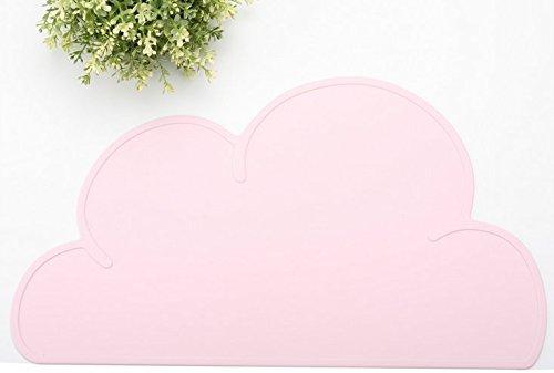 Inovey Alfombras De Explosivos Niño Niños Nubes Silicona Delgada Placa Móvil Bebé Comiendo Lechón Mesas Mantel-Rosa-1 Piezas