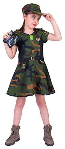 Karneval-Klamotten Soldatin Kostüm Mädchen Soldat Kostüm Kinder Größe 152