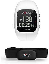 Polar A300 HR - Pulsómetro de entrenamiento, con sensor de ritmo cardíaco H7 HR, color blanco