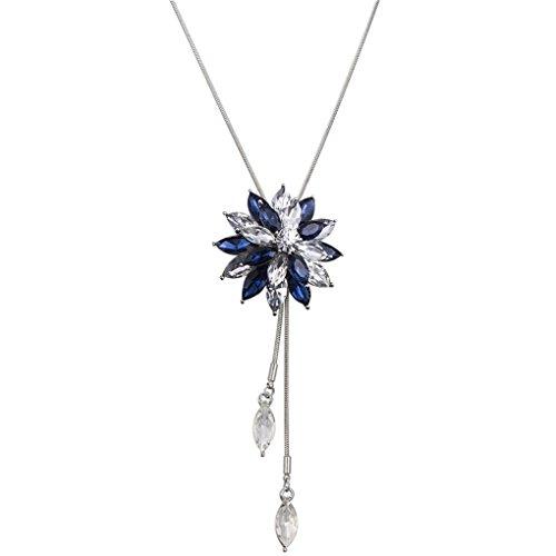Masterein Western-Art-Schneeflocke-Entwurf Lange hängende Halskette für Kleider Pullover - Schneeflocke Pullover Kleid