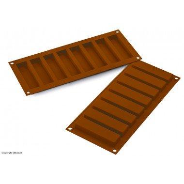 SF184 Molde de Silicona Rectangular para el Chocolate, Color marrón