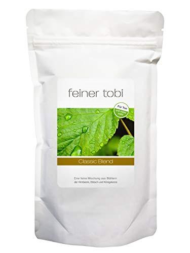 Feiner Tobi | Classic Blend | 50g | Königskerze, Eibisch und Himbeerblätter | Als Tee und Räucherwerk | Gleichmäßig feinblättrige Kräutermischung