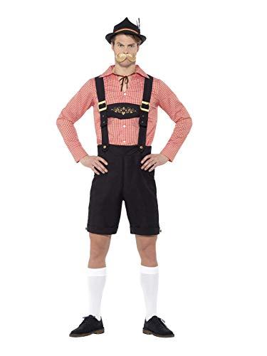 Smiffys SMIFFY 'S 48444l Oktoberfest Kostüm, Rot, L-UK Größe 106,7cm-112cm