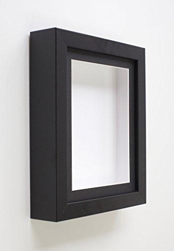 Tailored Frames Schwarz Shadow Box Rahmen (808) Deep Box Frames für Baby 3D Objekte Andenken & Display mit Schwarz oder Weiß ist passepartoutfähig, Black Mount, A4 for 9.75x6.25 -