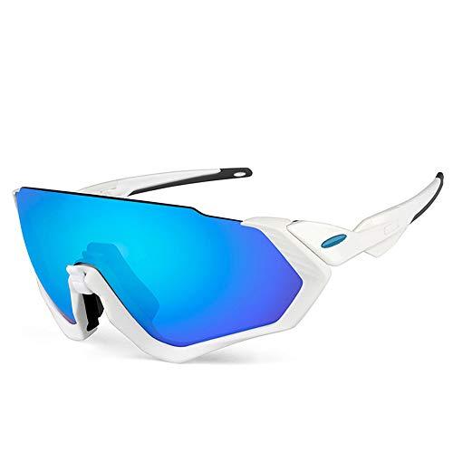 Yiph-Sunglass Sonnenbrillen Mode Sport Männer und Frauen Radfahren Brille Radfahren Wind polarisierte Brille Outdoor Polarisation Radfahren Brille (Farbe : Weiß)