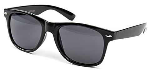 Sonnenbrille Nerdbrille Nerd Retro Look Brille Pilotenbrille Vintage Look - ca. 80 verschiedene Modelle Viele Farben Vari 2, Schwarz Classic,