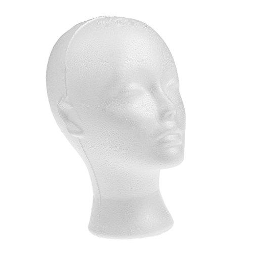 MagiDeal Weibliches Schaum Mannequin kopf Modell Hut Perücken -