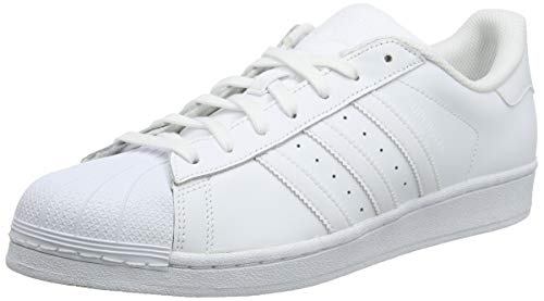 Adidas Originals Superstar, Baskets Basses Mixte Adulte, Blanc (Ftwr WhiteSilver MetallicCore Black), 39 13 EU