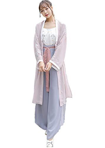 Susichou Hanfu Tops Sling Song Pants Vintage Chinese Style Performance Kostüm Graduation Foto Gr. Small, - Vintage Kostüm Fotos