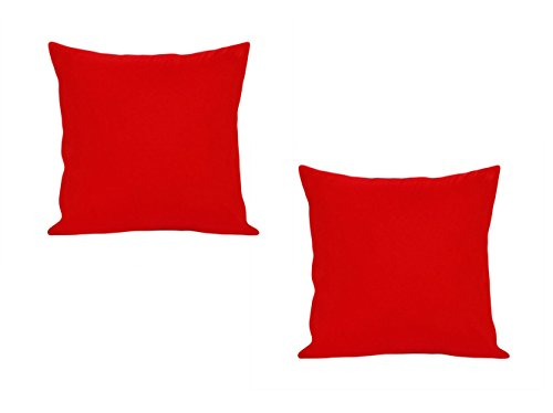 SPECIAL OFFER! Crimson Red Solid Cushion Covers/ Throw pillow covers - Set of 2 (16