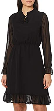 DeFacto Etek Ucu Volanlı Uzun Kollu Elbise Elbise Kadın