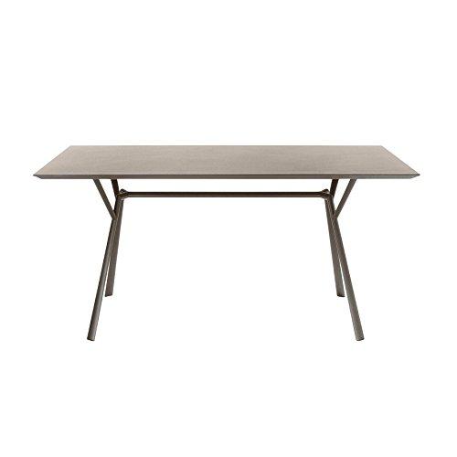 Weishäupl Radice Quadra Outdoor Tisch, taupe Größe 1 150x90cm