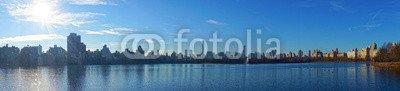 "Alu-Dibond-Bild 130 x 30 cm: ""Panorama central park"", Bild auf Alu-Dibond"