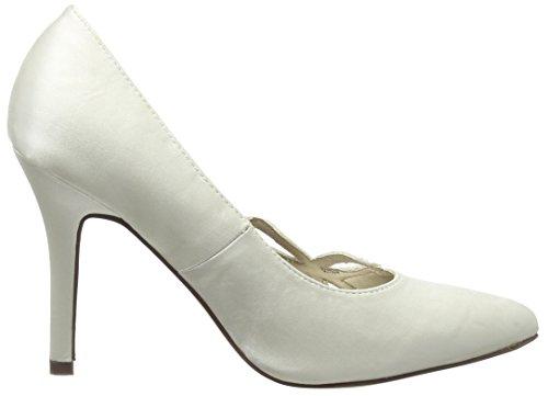 Spot On - F9736, Scarpe col tacco Donna Bianco (Bianco (Ivory))