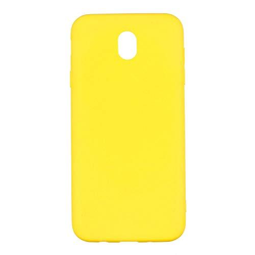 Mihutu Samsung Galaxy J7 2017 J730 UK Hülle, Matt Premium/Anti-Scratch/Stoßdämpfung Super dünne TPU Schutzhülle, für Samsung Galaxy J7 2017 J730 UK - Gelb