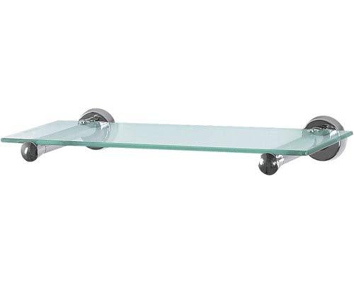 Spirella Wand-Glasablage Sydney Badezimmerablage Ablage Wandablage für das Badezimmer aus Glas und Edelstahl 40cm - zum kleben und bohren