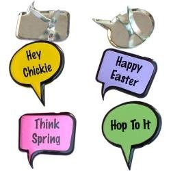 Easter Bubble Brads for Scrapbooking - Pkg. of 12 (24423) by EYELET OUTLET -