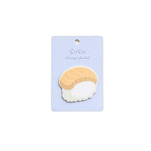 Bearcolo Kawaii colazione autoadesivo adesivo segnalibro, foglia frutta classificazione messaggio Index adesivi ufficio apprendimento classificati promemoria self-stick memo notes 8.1 * 6.9cm sushi