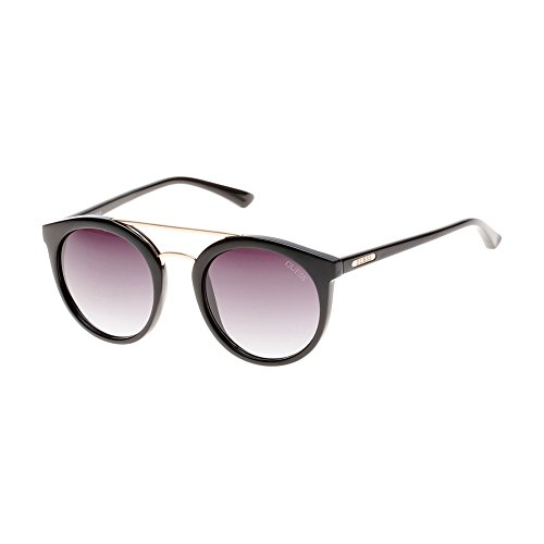 Guess - KARA GU7387, Rund, Acetat/Metall, Damenbrillen, BLACK GOLD/MAUVE SHADED(01B), 52/21/135