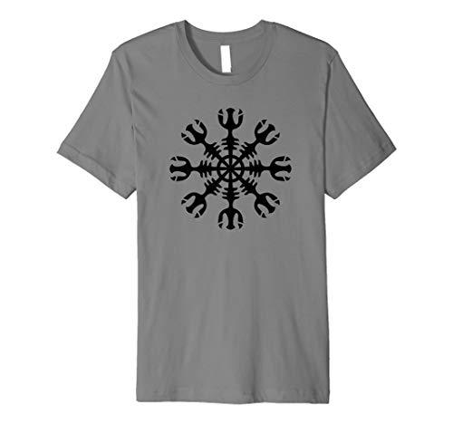 Aegishjalmur Helm der Ehrfurcht Schutzsymbol Vikings T-shirt Preisvergleich