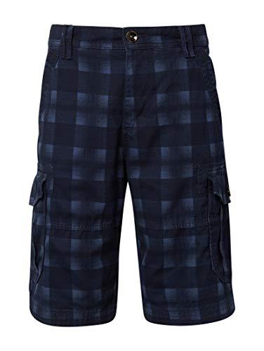 Männer Casual Shorts Herren Bekleidung (TOM TAILOR Casual Herren Cargo Baumwolle Shorts, Blau (Navy Check Design 17731), 38)