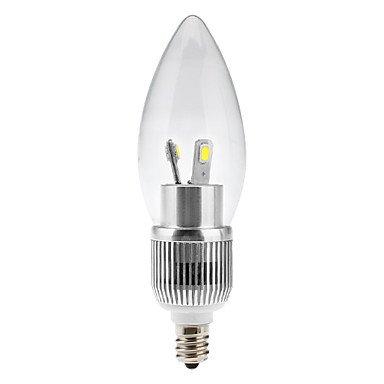 FDH E12 3W 6x5630SMD 200-220LM 5800-6500K LED Luz Blanca Natural Lámpara de vela (110-240 V)