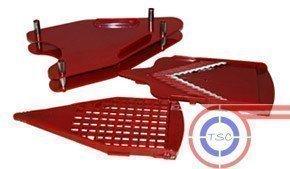 Ergänzungsset Waffelschneider und grobe Reibe für Ihren Premium Slicer Pro Edelstahl V-Hobel