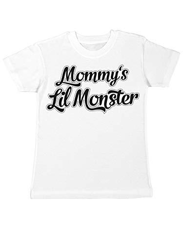 clothinx Kinder T-Shirt Mommys Little Monster Weiß Gr. 140