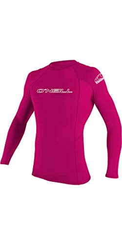 ONEILL WETSUITS O'Neill - Camiseta de Neopreno Infantil, Manga Larga, Cuello Redondo Rosa Rojo sandía Talla:14
