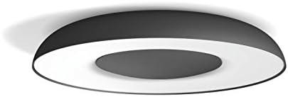 Philips Hue LED Deckenleuchte Still inkl. Dimmschalter, dimmbar, alle Weißschattierungen, steuerbar via App, schwarz, kompatibel mit Amazon Alexa (Echo, Echo Dot)