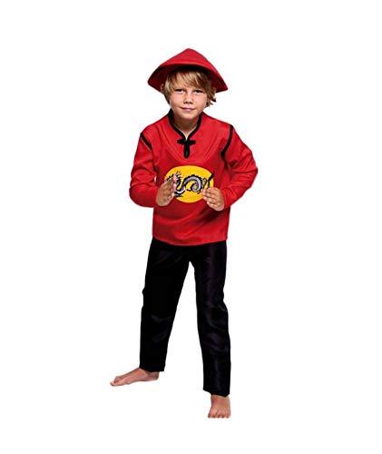 Partylandia Disfraz de Chino Dragón para niño Carnaval Cosplay Cómodo Suave 7-9 Años
