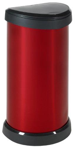 CURVER 176459 Touch mecanismo de apertura con toque, 40 L color rojo met/álico Papelera