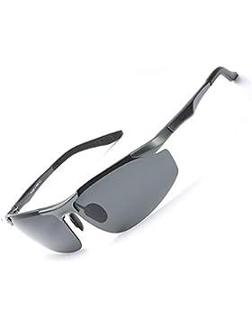 Gafas de Sol Hombre Deportivas Polarizadas -Conducen/Corren/Moto, 100% de Protección Contra Los Rayos UVA/UVB...