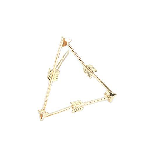 AHIMITSU Bogen und Pfeil Dreieck Haar Clip Seite Haarnadel EIN Wort Haarspange Haarschmuck(Golden)