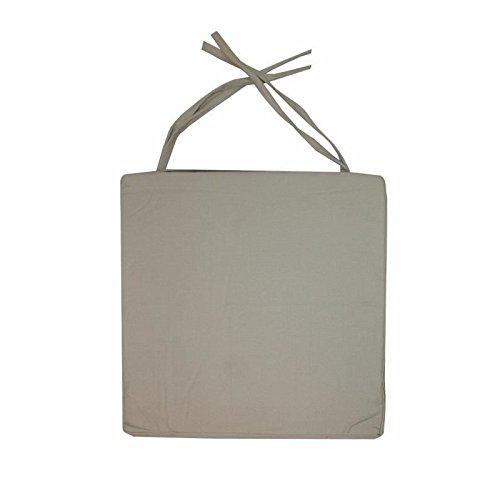 Galette de chaise carrée 40x40x4 cm Lin