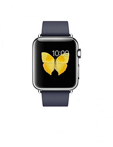 Apple Watch - smartwatches (Leather, Rectangular, Lithium-Ion (Li-Ion), Stainless steel, Stainless steel, Blue)