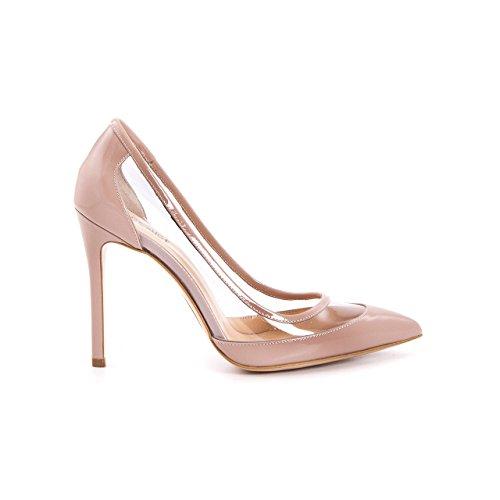 Damen Stilettos Premium Lackleder Echtleder Pumps Spitz High Heels Elegant Transparent Durchsichtig, Hochzeit Brautschuhe Abendschuhe Elegant Festlich Feierlich (36, Puder Lack)