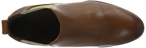 PIECES Damen Psizi Leather Short New Boot Chelsea Cgn Braun (Cognac)