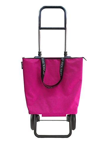 ROLSER Einkaufsroller Logic RG / Mini Bag Plus MF, MNB009, 41 x 32 x 105,5 cm, 18 - 41 Liter, 40 kg Tragkraft, fuchsia