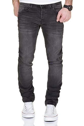 MERISH Jeans Herren Destroyed Hose Used-Look Jeanshose Männer Denim 2081-1001 (31-32, 1001 Anthrazit) Lange Bootcut-jeans