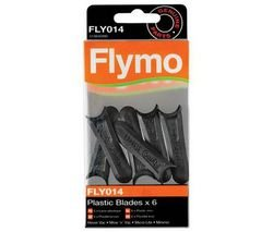 Genuine Flymo Plastic Lawnmower Blades x 6 FLY014 Test