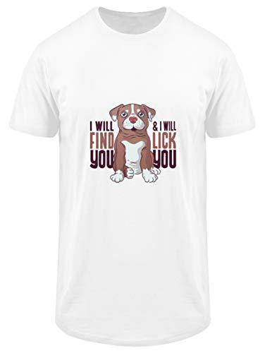Hunde WELPEN T-Shirt Hund Dog Geschenk - T-Shirt Urban Basic -XL-Blanc -