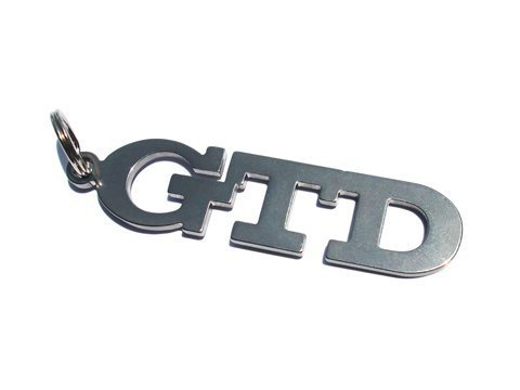 GTD emblème porte-clés en acier inoxydable de haute qualité