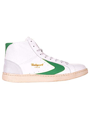 reputable site 912b0 3576b Valsport 1920 Scarpe Sneakers Alte Uomo in Pelle Nuove Tournament,  Bianco/Verde (42 EU)