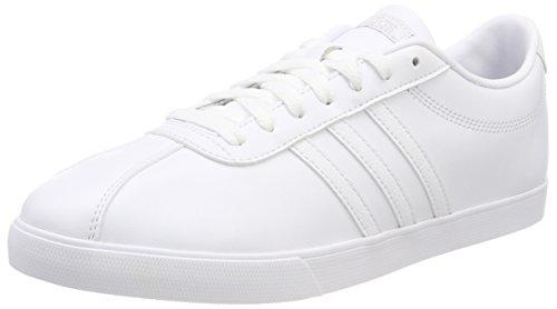Weiß Frauen-tennis-schuhe (adidas Damen Courtset Sneaker, Weiß (Footwear White/Footwear White/Matte Silver 0), 39 1/3 EU)