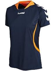 Hummel Team Player - Camiseta para mujer, tamaño L, color azul